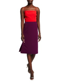 Milly Colorblock Cady Pencil Dress