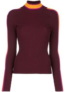 Milly contrast turtleneck jumper