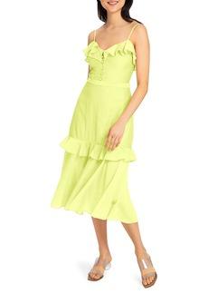 Milly Crinkle Gauze Midi A-Line Petal Dress