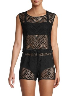 Milly Cropped Shell Crochet Top