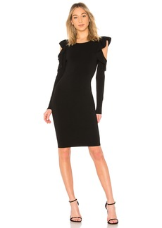 Cut Out Flounce Fitted Sheath