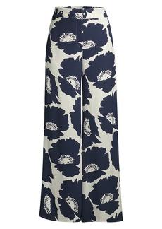 Milly Dari Pop Art Floral Crepe Pants