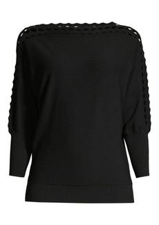 Milly Diamond Cut Doleman Sweater