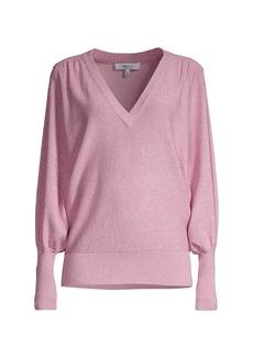 Milly Dolman Knit V-Neck Sweater