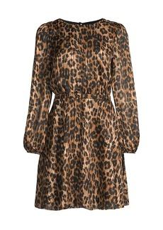 Elma Leopard-Print Mini Dress