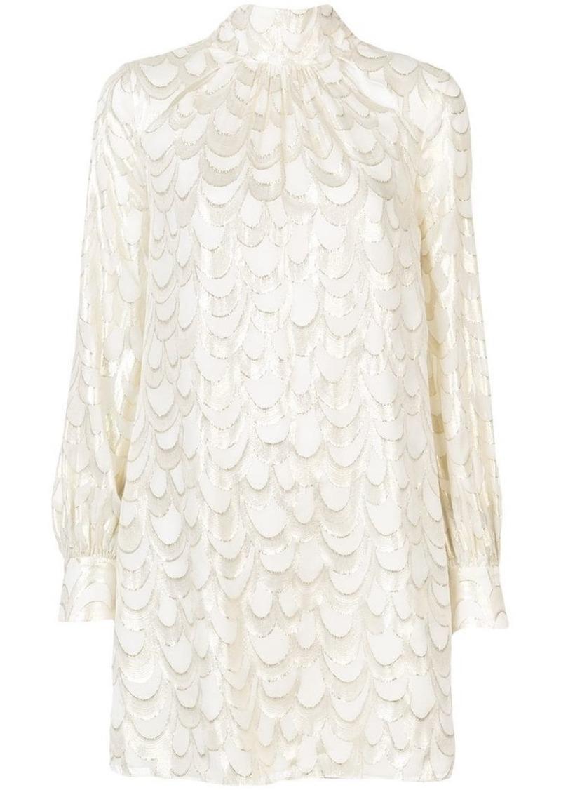 Milly embellished long-sleeve dress