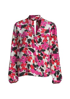Milly Essie Floral Silk Blouse