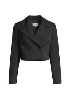 Milly Eva Cropped Blazer Jacket