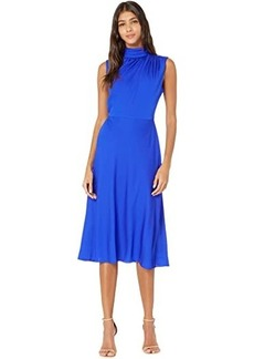 Milly Finlee Mock Neck Midi Dress