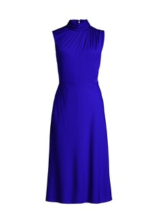 Milly Finlee Silk-Stretch A-Line Dress