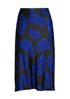 Milly Fion Paisley Slip Skirt