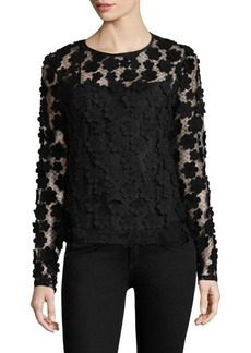 Milly Floral Long-Sleeve Top