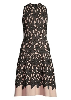 Milly Floral Mesh Jacquard Dress