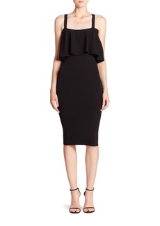 Flounced Fitted Dress