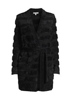 Milly Fuzzy Knit Wrap Cardigan