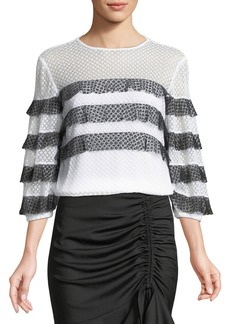 Milly Gabriella Tiered Stripe Top