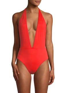 Milly Gaietta Plunge One-Piece Swimsuit