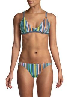 Milly Gigi Striped Retro Swim Top
