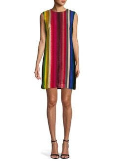 Milly Gina Rainbow Velvet Shift Dress