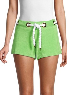 Milly Grommet Cotton-Blend Shorts