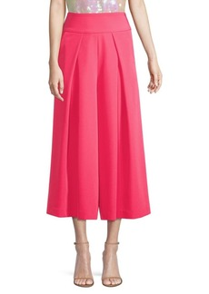 Milly High-Rise Culotte Pants