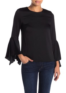 Milly Holly Silk Blend Bell Sleeve Blouse