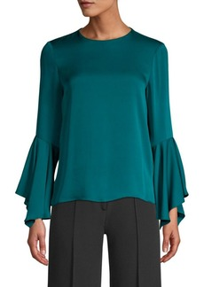 Milly Holly Silk-Blend Bell-Sleeve Blouse