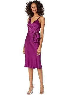 Milly Honey Stretch Silk Bow Dress
