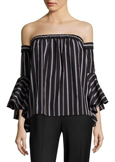 Milly Ines Off-The-Shoulder Cotton Top