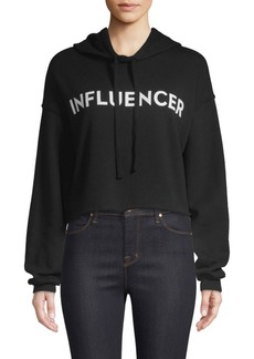 Milly Influencer Cropped Hoodie