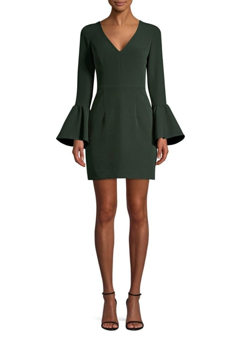 Milly Italian Cady Morgan Bell-Sleeve Sheath Dress