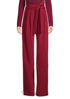 Milly Italian Cady Side Stripe Pants