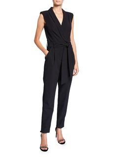 Milly Jada Sleeveless Cady Jumpsuit