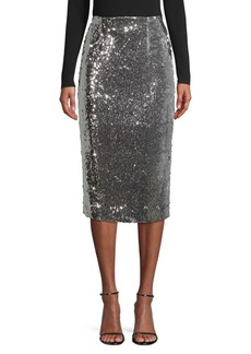 Milly Jamie Sequin Pencil Skirt
