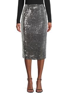 Milly Jamie Sequin Pencil Skirt