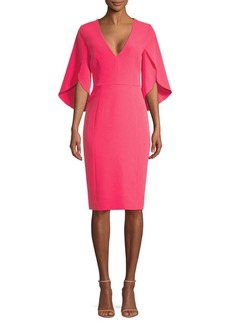 Milly Jana Flutter-Sleeve Sheath Dress