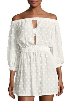 Milly Jenny Off-the-Shoulder Cover Dress