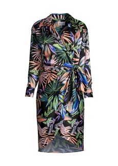 Milly Jordan Tropical Wrap Dress