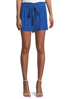 Milly Kori Gathered Viscose/Silk Shorts