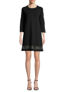 Milly Lace Panel Shift Dress