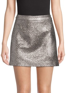 Milly Laminated Mini Skirt