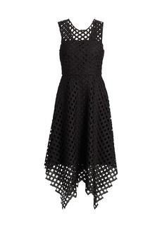 Milly Lattice Laser Cut Dress