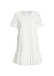 Milly Leaf Eyelet Cece Dress
