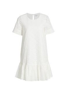 Milly Leaf Eyelet Cece Dress