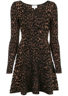 Milly leopard print skater dress