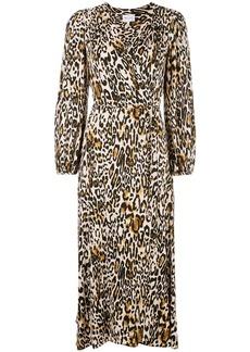 Milly leopard print wrap dress