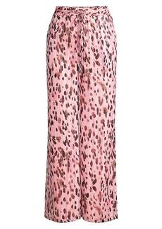Milly Leopard Stripe Track Pants