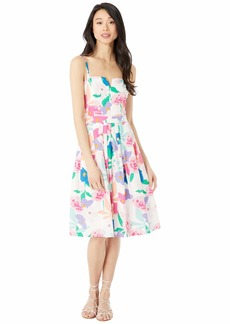 Milly Les Fleurs Cotton Poplin Bo Dress