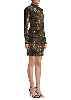 Milly Long-Sleeve Sequin Dress