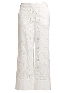 Milly Marlowe Pieres Eyelet Crop Pants